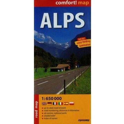 Mapa Alpy