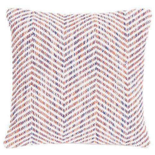 D2.design Poduszka melange zigzag 45x45 - pomarańczowy ||kremowy ||niebieski (8717266325502)