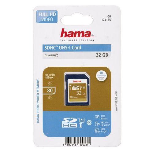 Karta pamięci sdhc 32gb uhs-i 80mb/s class 10 marki Hama