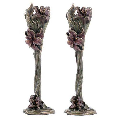 Świecznik z lilią (an10428a4) marki Veronese