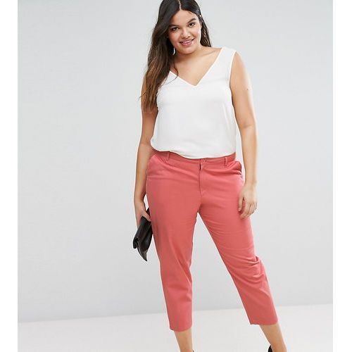 ASOS CURVE Chino Trousers - Pink, chinosy