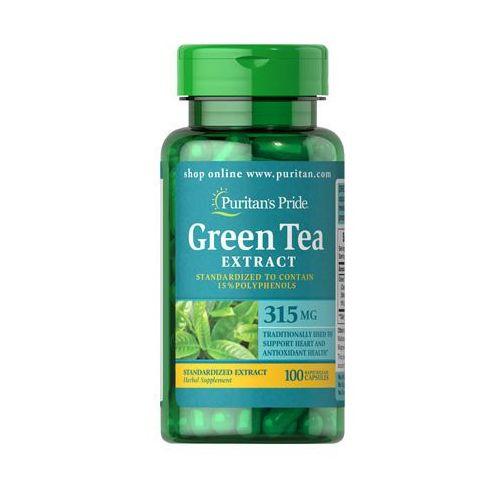 Zielona herbata green tea extract 315mg 100 kapsułek , marki Puritan's pride
