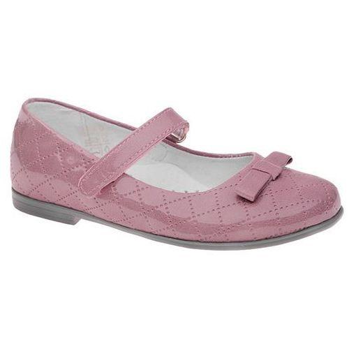 Balerinki KORNECKI 4431 Lila Różowe Lakierki na rzepy - Różowy   Lila   Wrzosowy, kolor różowy