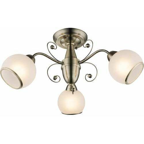 Plafon oprawa lampa sufitowa Globo Comodoro I 3x40W E14 biały, złoty 54713-3D, 54713-3D