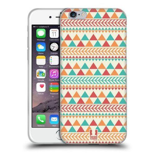 Head case Etui silikonowe na telefon - aztec patterns light red and orange