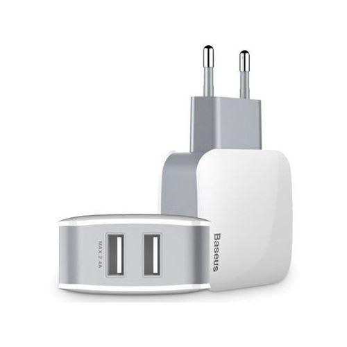 Ładowarka sieciowa BASEUS Letour Dual USB biała (6953156251014)