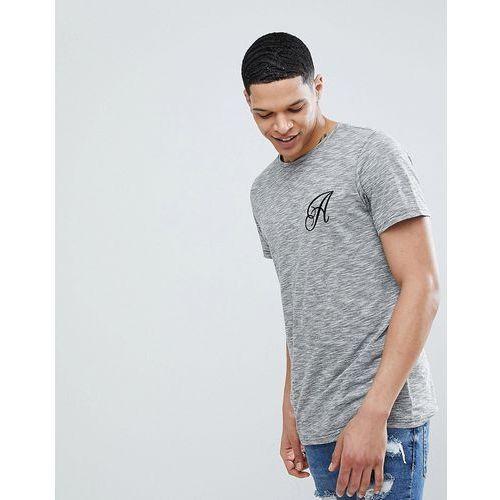 Another Influence Long Line Curved Hem Stretch Logo T-Shirt - Black, kolor czarny