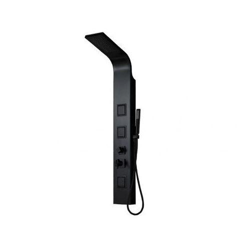 Kolumna prysznicowa z hydromasażem tyra - czarna - 20 * 150 cm marki Vente-unique
