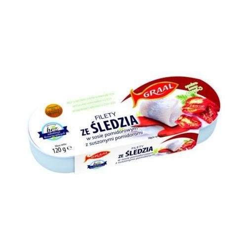 GRAAL 120g Filety ze śledzia w sosie pomidorowym z suszonymi pomidorami