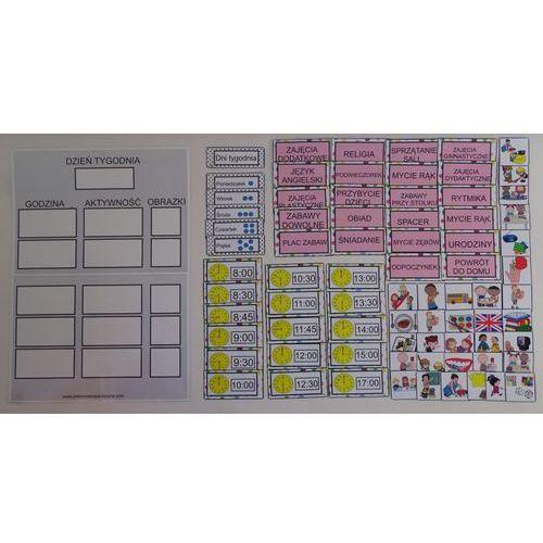Harmonogram dnia w przedszkolu - obrazkowo-słowny