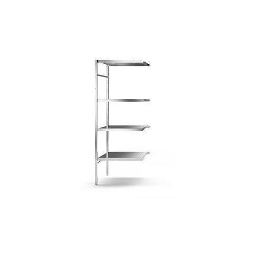 Regał wtykowy ze stali szlachetnej, 4 gładkie półki,szer. półki x gł. 640 x 540 mm marki Kek