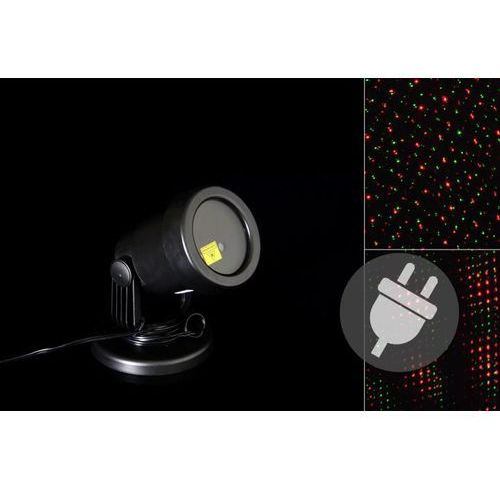 Zewnętrzny projektor LED - czerwony i zielony - zasięg 15 - 20 m.