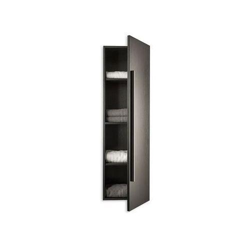 Meble łazienkowe - szafka wisząca łazienkowa czarna - MATARO