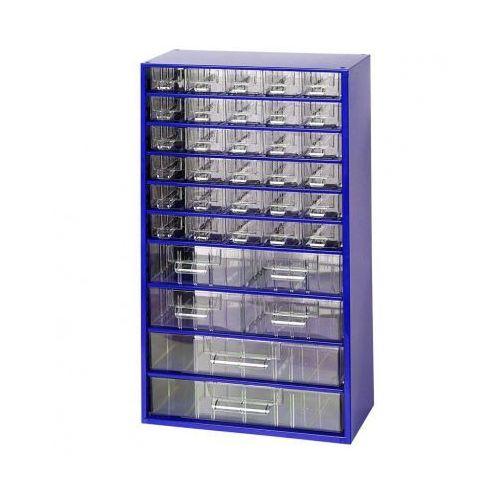 Metalowe szafki z szufladami, 30+4+2 szuflad