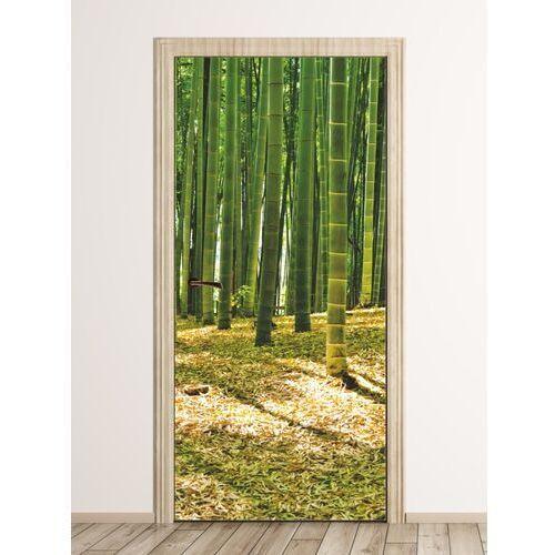 Wally - piękno dekoracji Fototapeta na drzwi bambusy fp 6195