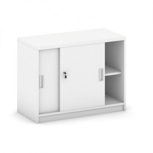 B2b partner Nadstawka z przesuwnymi drzwiami, 800 x 400 x 600 mm, biały