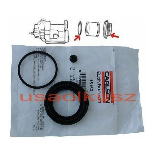 Zestaw naprawczy tylnego zacisku hamulcowego Chevrolet TrailBlazer - produkt z kategorii- Zestawy naprawcze zacisku hamulcowego