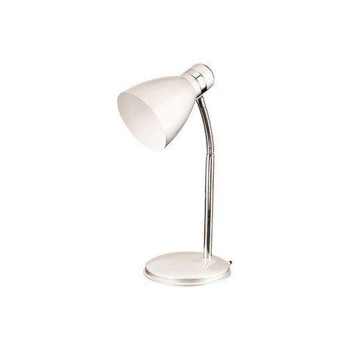 Lampa stołowa lampka biurkowa Rabalux Patric 1x40W E14 biały/chrom 4205 (5998250342054)
