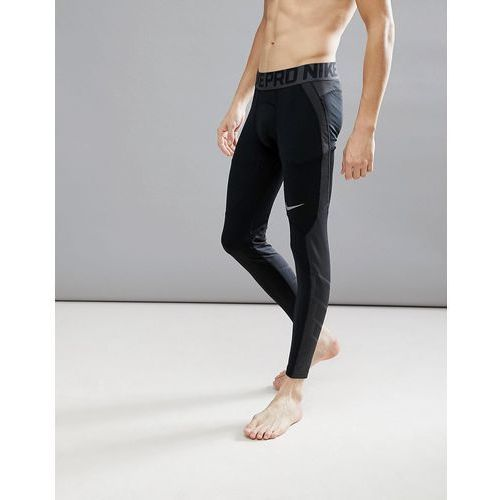 pro hyperwarm tights in black 838016-010 - black marki Nike training