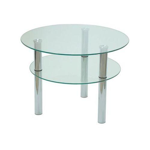 Szkłomal KOŁO I - Stolik szklany, fi 60 cm, wys. 50 cm