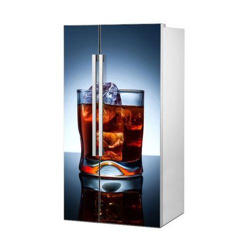 Stikero Mata magnetyczna na lodówkę side by side - whiskey z lodem w szklance 0732