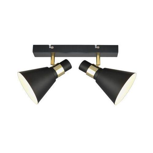 Plafon Italux Biagio MB-H16079M-2 lampa sufitowa 2x40W E14 czarny mat/złoty (5900644437765)