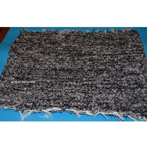 Chodnik bawełniany (wycieraczka) ręcznie tkany czarno-szary 65x50 marki Twórczyni ludowa