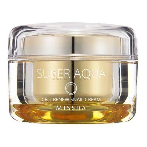 Missha super aqua cell renew snail odżywczy krem z ekstraktem ze śluzu ślimaka (cream contains 70% snail extract, paraben free) 47 ml (8806150659592)
