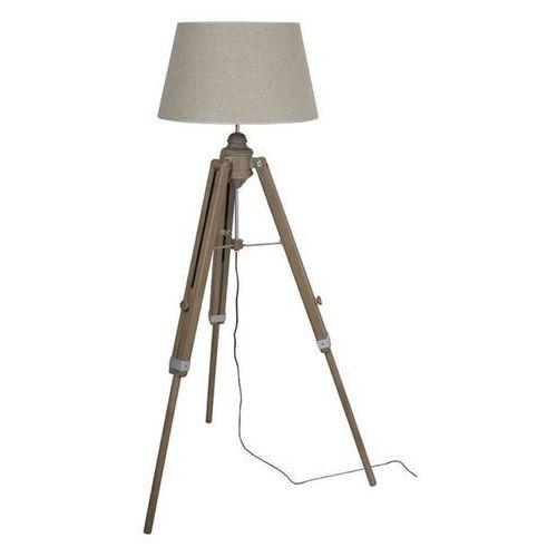 AUGUSTIN-Lampa podlogowa Statyw Drewno & Tkanina Wys.160cm