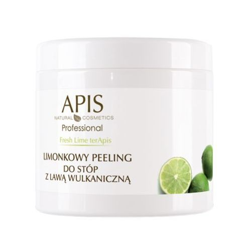 Apis  fresh lime terapis limonkowy peeling do stóp z lawą wulkaniczną (51285)