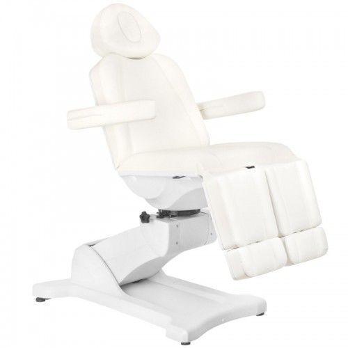 Activeshop Fotel kosmetyczny elektr. azzurro 869as pedi obrotowy 5 siln. biały