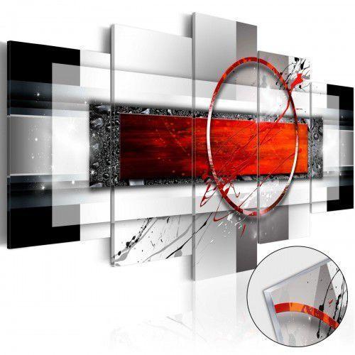 Obraz na szkle akrylowym - karminowy pocisk [glass] marki Artgeist
