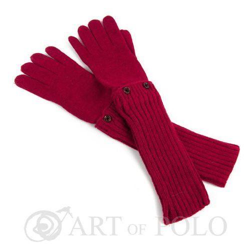 Evangarda Czerwone uniwersalne rękawiczki 3 w 1 długie, krótkie, mitenki - czerwony