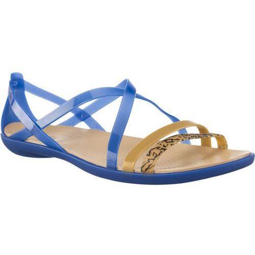 Sandały Crocs ISABELLA GRPH STRAPPY SANDAL BLUE JEAN/GOLD BLUE JEAN/GOLD