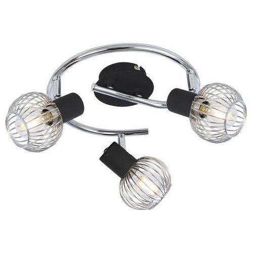 Candellux oslo 98-61867 lampa punktowa 3x40w e14 czarny + chrom
