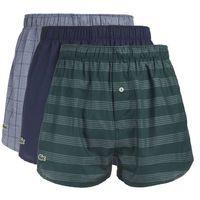 boxer shorts 3 piece niebieski zielony szary s, Lacoste, S-XL