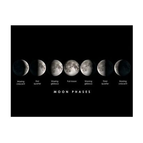 Designerski duży obraz ze szkła akrylowego MOONLIGHT - 160x60x0.4 cm - czarny i biały