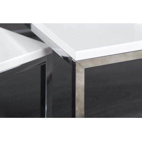 Zestaw stolików kawowych NEW FUSION białe (4250243557649)