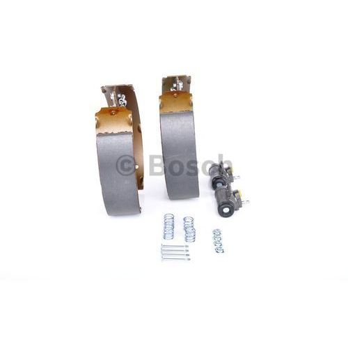 Bosch  kit superpro, zestaw szczek hamulcowych + cylinderek hamulca koła; zamontowany; z tyłu, 0 204 114 112 (4047024889682)