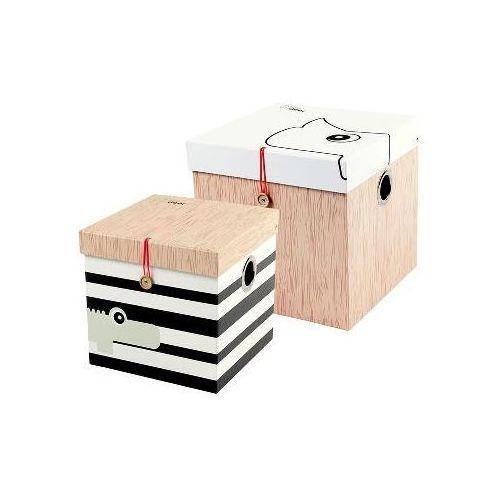 Done by deer  - pudełka duże 2 szt., kategoria: pojemniki na zabawki