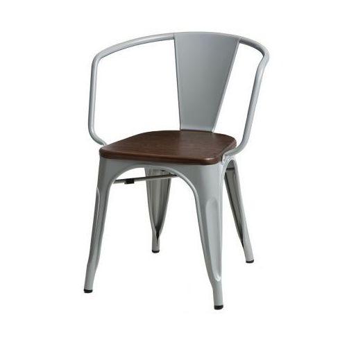 Krzesło Paris Arms Wood sosna - srebrny, kolor szary