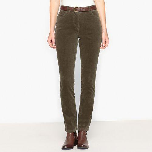 Welurowe spodnie ze streczu, Anne weyburn