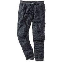 Spodnie sportowe czarno-antracytowy melanż marki Bonprix