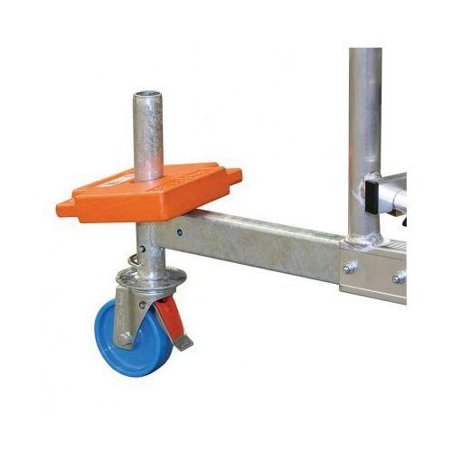 B2b partner Zestaw kółe 125 mm z regulacją wysokości do aluminiowego rusztowania, 4 szt