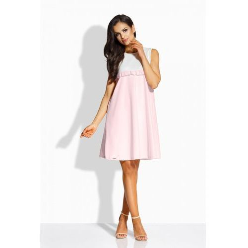 1 L215 ecru-pudrowy róż sukienka PROMO