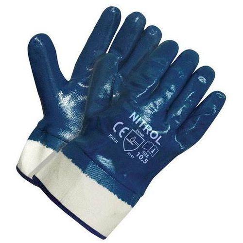 Arkadia Nitrol flex rękawice robocze nitrylowe z mankietem