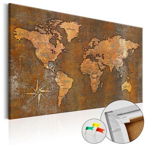 Artgeist Obraz na korku - rdzawy świat [mapa korkowa]