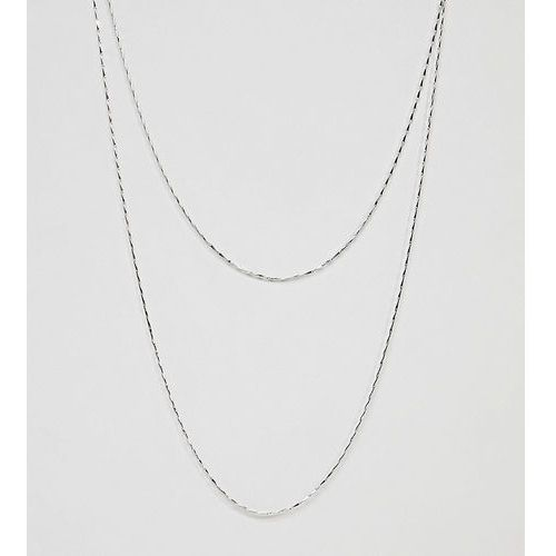 Designb double layer chain necklace in silver exclusive to asos - silver marki Designb london