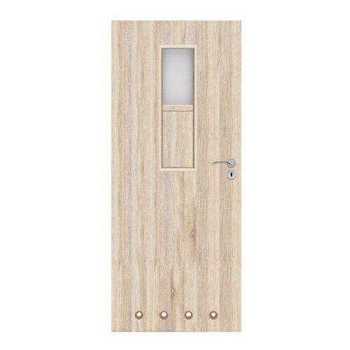 Drzwi z tulejami Olga 60 lewe dąb sonoma
