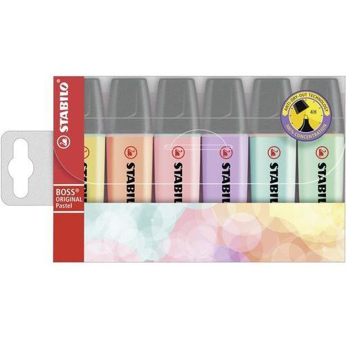 Textmarker STABILO Boss kpl.6szt. kolory pastelowe
